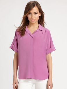 Lafayette 148 New York Silk Sharona Blouse