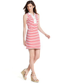Tommy Hilfiger Sleeveless Striped Polo Dress