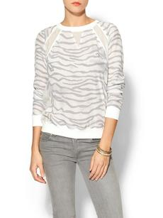 Rebecca Taylor Long Sleeve Tiger Sweatshirt