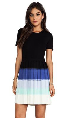 Shoshanna Ombre Berkley Sweater Dress in Black
