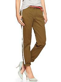 Tuxedo-stripe broken-in straight khakis