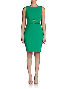 Calvin Klein Double Belted Sheath Dress