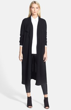 Nordstrom Collection Cashmere Duster, Leather Leggings & Classiques Entier® Shirt