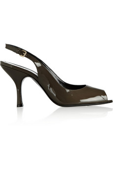 Jil Sander Patent-leather slingbacks