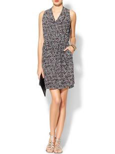 Rebecca Taylor Sleeveless Leopard Print Dress