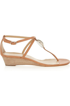 Giuseppe Zanotti Ela leather wedge sandals