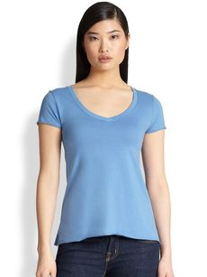 Saks Fifth Avenue Collection V-Neck Jersey Tee