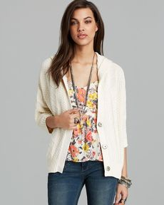 Free People Cardigan - Washed Out Hooded