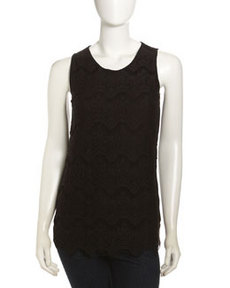 Isda & Co Tiered Lace-Front Tank Top