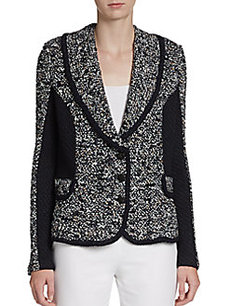St. John Couture Shawl Collared Tweed Jacket