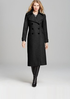 DKNY Notch Collar Maxi Coat