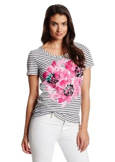Jones New York Women's Short Sleeve Scoop Neck Tee