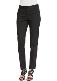 Lafayette 148 New York Downtown Straight-Leg Pants, Black
