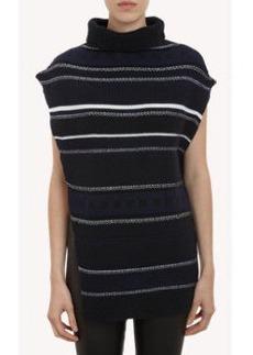 3.1 Phillip Lim Jacquard-Knit Sleeveless Cape Sweater