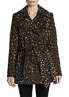 Via Spiga Scarpa Leopard-Print Belted Coat
