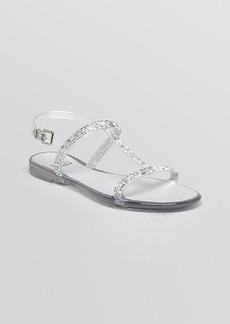 Stuart Weitzman Jelly Flat Sandals - Teezer