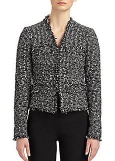 Michael Kors Frayed Tweed Jacket