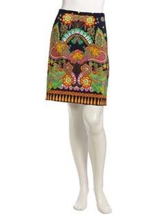 Nanette Lepore Mirror Me Printed Skirt, Navy/Multicolor