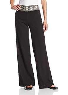 XOXO Juniors Embroidered Smocked Wide-Leg Pant