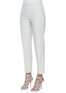 Lafayette 148 New York Metro Stretch Cropped Bleecker Pants, Raffia