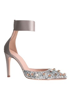 Collection Natasha jeweled satin pumps