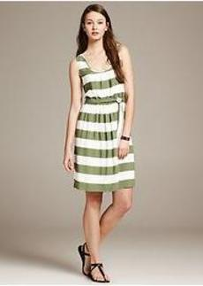 Heritage Striped Crepe Dress