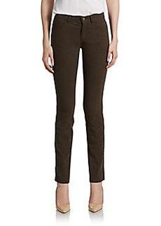 Lafayette 148 New York Crocodile-Print Skinny Jeans