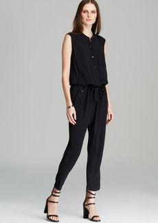 DKNY Pure Sleeveless Shiny Yoke Jumpsuit