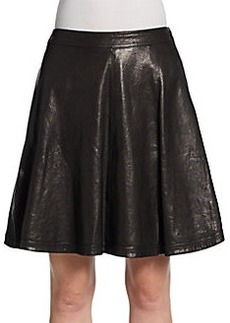Diane von Furstenberg Riley A-Line Leather Skirt
