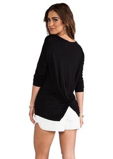 DEREK LAM 10 CROSBY Knot Back Shirt in Black