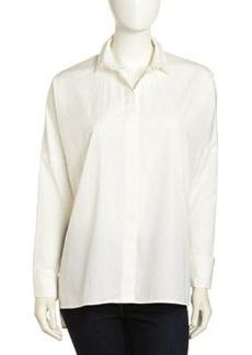 Paper Denim & Cloth Oversized French-Cuff Shirt, White