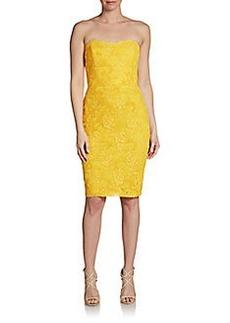 David Meister Strapless Lace Dress