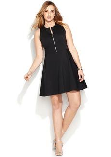 MICHAEL Michael Kors Plus Size Zip-Front Sleeveless Dress