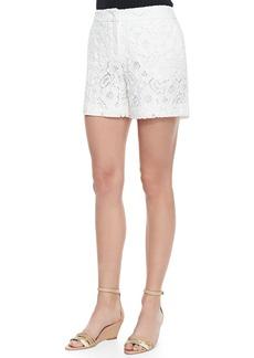 Escada Floral Lace Midi Shorts