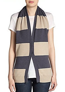 Brunello Cucinelli Cashmere Striped-Halter Vest