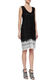 Derek Lam Sleeveless Guipure Lace Shift Dress