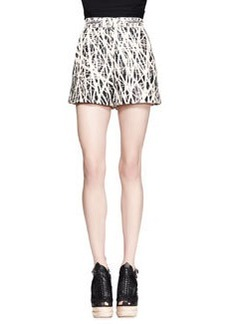 Proenza Schouler Branch-Print High-Waist Shorts