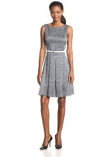Jones New York Women's Sleeveless Jacquard Dress