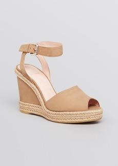 Stuart Weitzman Platform Espadrille Wedge Sandals - Waycool