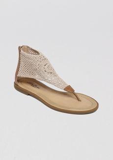 Lucky Brand Flat Thong Sandals - Cropyley Crochet