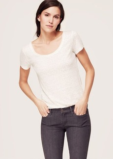 Petite Dotted Linen Tee