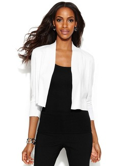 Alfani Three-Quarter-Sleeve Cropped Cardigan