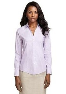 Non-Iron Fitted Framed Dash Stripe Dress Shirt
