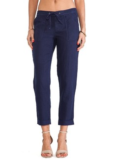 Joie Alaine Straight Leg Pants in Navy