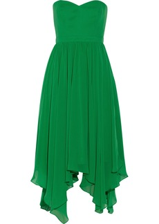 Badgley Mischka Draped chiffon dress
