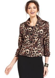 Tahari ASL Leopard-Print Jacket