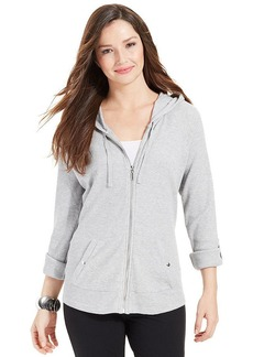 Style&co. Sport Thermal Zip-Front Hoodie