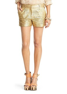 Naples Gold Lasercut Leather Short