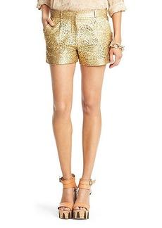 Naples Gold Lasercut Leather Short