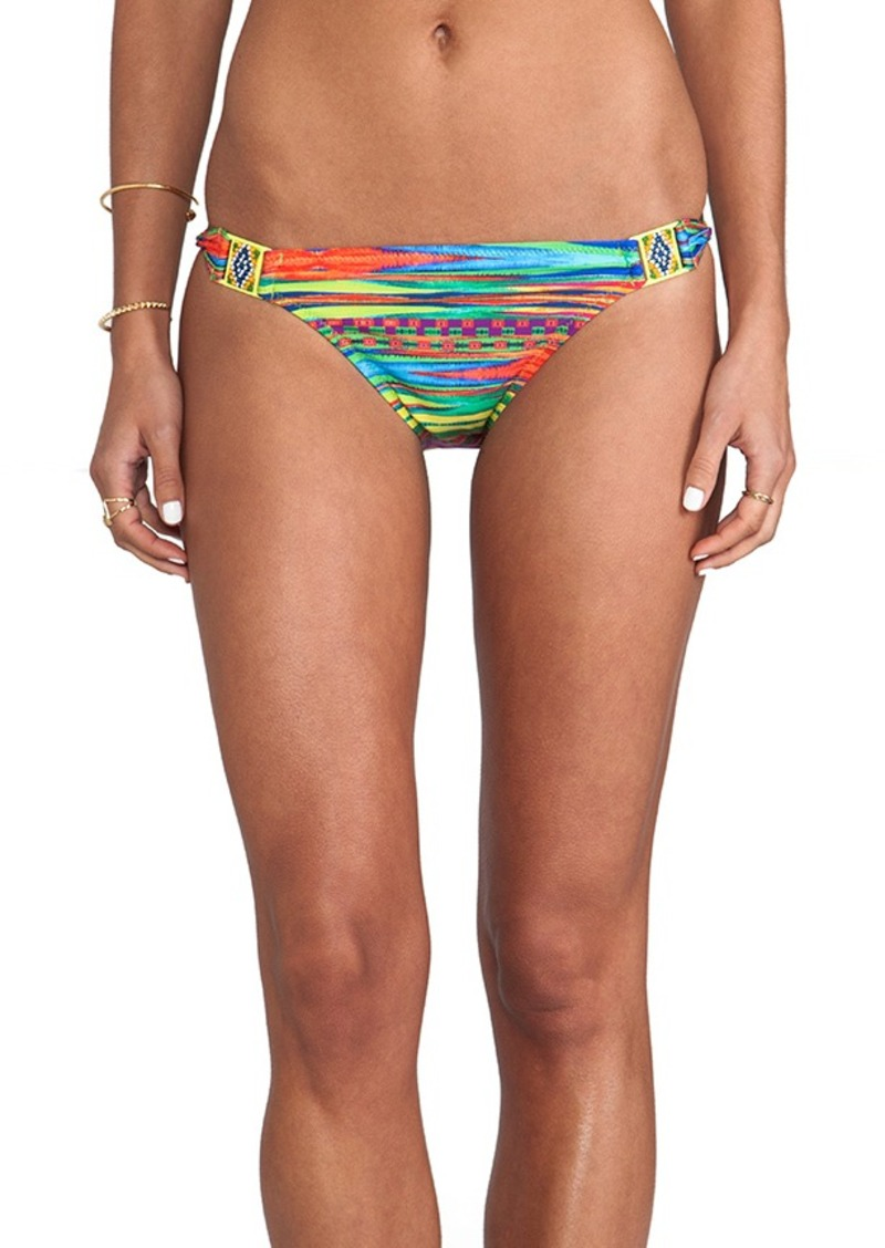 Nanette Lepore Sinaloa Stripe Charmer Bikini Bottoms in Yellow